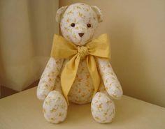 Urso de tecido articulado - Tam. M