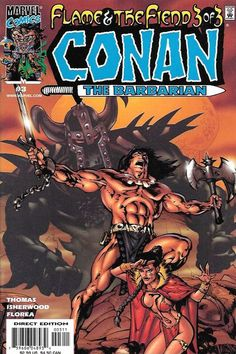 Conan: Flame and The Fiend Part 3 Hour Of The Demons , Written By Roy Thomas , Art By Geoff Isherwood , Cover Art geoff isherwood ,It's the sword-swinging conclusion to the mighty Cimmerian's battle w