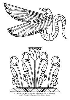 A colorier, la déesse cobra Buto.