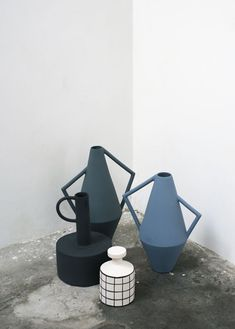 Modern #ceramic vessels. ~ETS Mood Boards, Ceramics, Collection, Garden, Beautiful, Estate, Milano, Design, Art