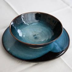 blue side plate by sally reilly | notonthehighstreet.com