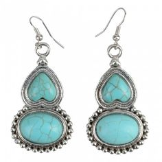 Gourd Shape Turquoise Earrings | favwish - Jewelry on ArtFire