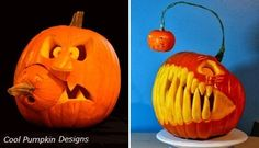 Calabazas decoradas de Cool Pumpkin Designs