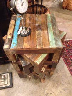 Reclaimed wood tables #LiquidGoldSalvagedWood