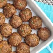 Baked Italian Meatballs {Freezer Meal}   Thriving Home