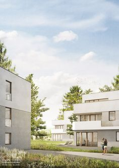Gräßel Architekten | Burgbergstraße Erlangen | Visualisierung nadinekuhn.com …
