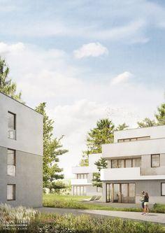 Gräßel Architekten | Burgbergstraße Erlangen | Visualisierung nadinekuhn.com