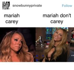 That second picture is the Mariah I know! lol yasss