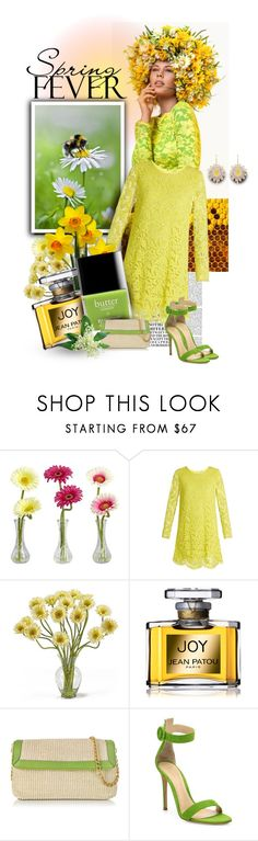 """""""Spring Fever-2017"""" by luvchildski ❤ liked on Polyvore featuring Nicki Minaj, Nearly Natural, ADAM, Jean Patou, Buti, Gianvito Rossi and Alison Lou"""