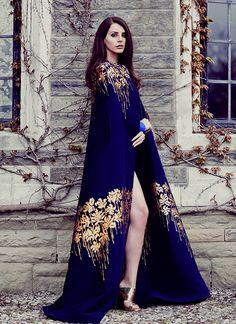 Lana Del Ray in Blumarine. Photo by Chris Nicholls for Fashion September 2014.