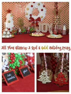 All That Glitters Red & Gold Holiday Party #BakeintheFun AD