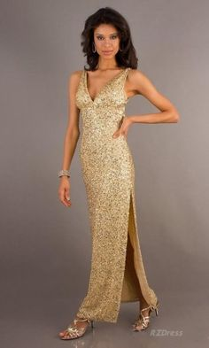 Prom dresses online store here! We provide cheap Long Gold Sequin V-Neck Dress sale. Also, Long Prom dresses are offered with high quality and order guarantee! Gold Prom Dresses, Dresses 2013, Prom Dresses Online, Evening Dresses, Dress Prom, Lovely Dresses, Sexy Dresses, Dress Outfits, Formal Dresses