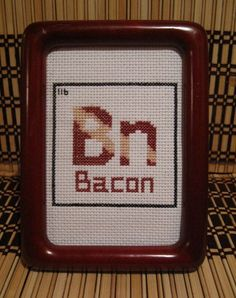 Pattern Funny Cross Stitch Bacon Humorous Subversive Table Of Elements Rude Subversive DIY PDF Original. $5.00, via Etsy.