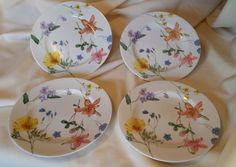 "Set of 4 Mikasa 8 1/4"" Salad / Lunch Plate Plate Lilliette /  Floral Splendor"