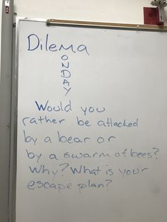 Dilemma Monday (change the dilemma) Teaching Tips, Learning Resources, Morning Board, Bell Work, Journal Writing Prompts, Responsive Classroom, Dilema, Morning Messages, Teacher Message