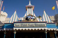 Snow White's Scary Adventures sign @ Magic Kingdom, Walt Disney World