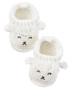 Lamb Crocheted Booties