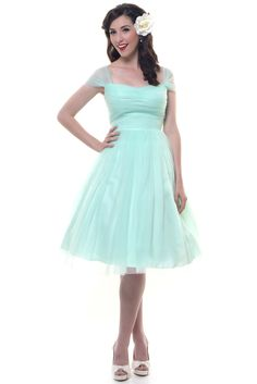 Mint Green Garden State Mesh Cocktail Dress - I wonder if I could wear this color.