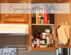 Cluttered Corkboard: Organizing Kitchen Spices and my fix for that wasted space