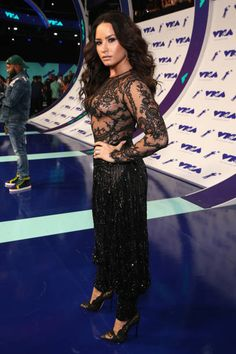 Demi Lovato during the 2017 MTV Video Music Awards at The Forum on August 27 2017 in Inglewood California