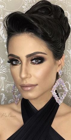 Every Woman, Smokey Eye, Updos, Bridal Hair, Night Out, Makeup Looks, Hair Accessories, Make Up, Eyes