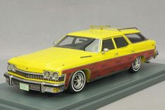1 43 NEO Resin Model Buick LeSabre 4-doors Station Wagon Yellow 1974 #44626 #NEO #Buick
