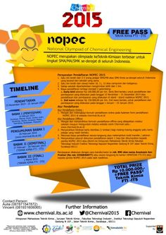 National Olympiad of Chemical Engineering (NOPEC) 2015 NOPEC merupakan olimpiade keTeknik-Kimiaan terbesar untuk tingkat SMA / MA / SMK Se-Derajat di Seluruh Indonesia  http://eventsurabaya.net/national-olympiad-of-chemical-engineering-nopec-2015/