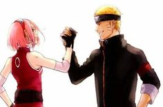 Naruto and Sakura - Friends forever Sakura Haruno, Naruto E Sakura, Naruto And Sasuke Kiss, Naruto Anime, Naruto Cute, Naruto Funny, Otaku Anime, Kakashi, Naruko Uzumaki