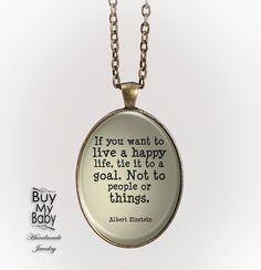 """if you want"" Zitat Quote Text Medaillon Kette von Buy My Baby auf DaWanda.com"
