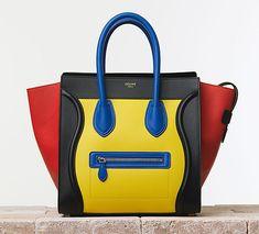 Primary Colored Celine Luggage | Celine Summer 2014