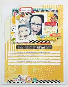 Bella Blvd Family Forever. Layout by DT member Steph Buice