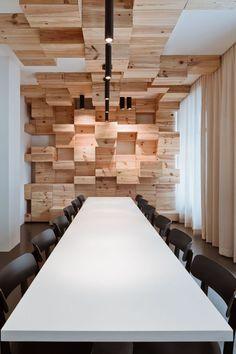 Contemporary Wood Furniture Wall Showroom classy wine Design Ideas 1