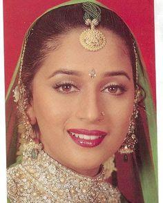 Madhuri Dixit Indian Celebrities, Bollywood Celebrities, Bollywood Actress, Beautiful Blonde Girl, Beautiful Lips, Vintage Bollywood, Indian Bollywood, Most Beautiful Indian Actress, Beautiful Actresses