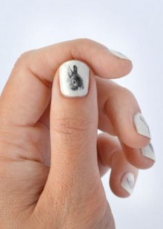 bunny love nail art