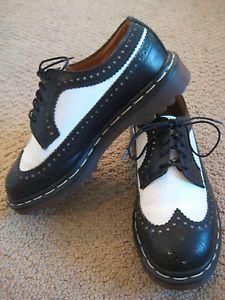 doc martens for women black white | Unisex oxford black white wingtip Doc Dr. Martens shoes Uk6 W8 punk ...