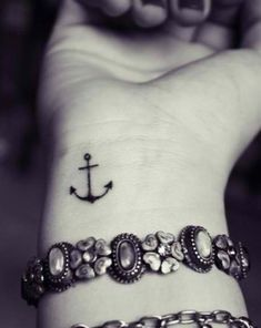 An anchor tattoo usually means stability, peace, strength, determination and passion.People frequently use other symbols or letters with anchor together, such as roses, infinity, swallows, compasses, ropes and wheels. Anchors have become popular within general tattoo culture over the years, but the symbolism is still the same.