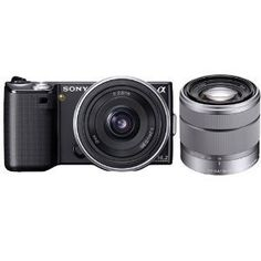 Sony Alpha NEX-5 Digital Camera Body & E 16mm f/2.8 Lens (Black) with 18-55mm f/3.5-5.6 OSS Zoom Lens by Sony. $1143.04. Presenting the world's smallest, lightest interchangeable lens camera, the Sony NEX-5. The quality of a DSLR with just about half the size and weight. Experience Full HD 1080/60i movies, astounding low-light pictures, continuous shooting up to 7 fps, incredible panorama shots and Live View on a tilting 3.0-inch LCD. Additionally, this ? NEX-5 camera comes wi...