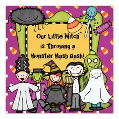 Candy Corny Halloween Party Invitation