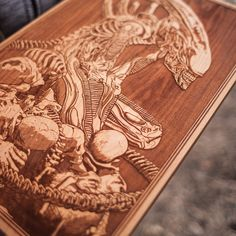 SpaceWolf, an Amirican wood worker, creates highly detailed laser engraved wooden posters, unlike you ever seen before. Each art piece is unique.