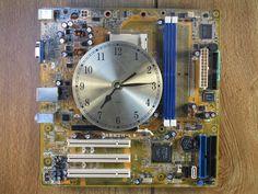 Handmade Wall Clock   Computer Motherboard  Clocks by aFarmOfArt, $65.00