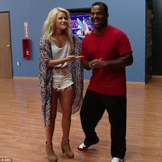 Dance partners: Witney Carson said she was excited to have Alfonse as a dance partner
