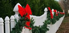 Image result for christmas fence decorations
