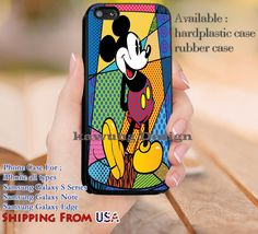 In The Spotlight Mickey Mouse iPhone 6s 6 6s  5c 5s Cases Samsung Galaxy s5 s6 Edge  NOTE 5 4 3 #cartoon #animated #disney #MickeyMouse dl11