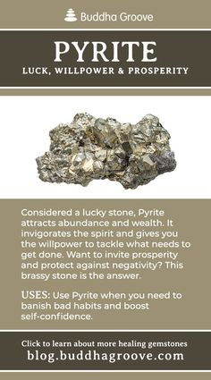 Pyrite - Luck, Willpower, and Prosperity