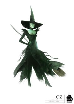 Oz the Great and Powerful Wicked Witch illustration  --  Costume Designer: Gary Jones