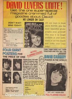Are you a baby boomer? If you are, chances are you remember the Partridge Family and David Cassidy. My Aunt bought some old comics at a. Vintage Newspaper, Vintage Comic Books, Vintage Comics, Newspaper Design, Old School Bus, Susan Dey, Charlton Comics, Tiger Beat, Shirley Jones