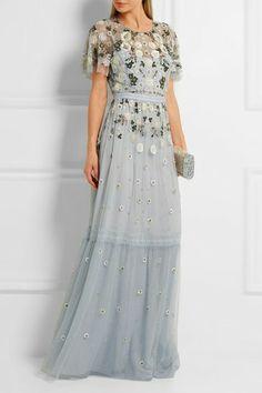 Evening dress floral embroidery | Elegant evening dress
