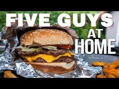(5) The Best FIVE GUYS Burger at Home | SAM THE COOKING GUY 4K - YouTube Guys Burgers Recipe, 5 Guys Burgers, How To Cook Burgers, Burger Recipes, Camping Recipes, Copycat Recipes, The Best Burger, Good Burger, Hamburgers