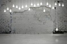 old brick wall and bulbs 52503712