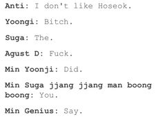 I like suga savage level 92839226949936939689459%
